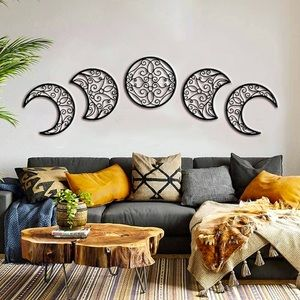 Phases of the Moon 5 Piece Boho Moon Phases Set